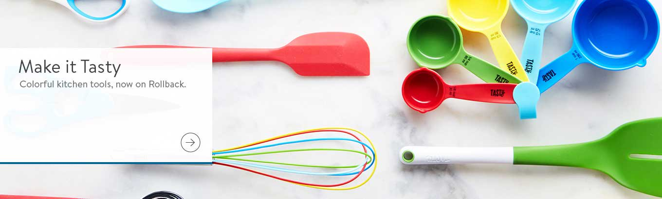 Make it Tasty. Colorful kitchen tools, now on Rollback.