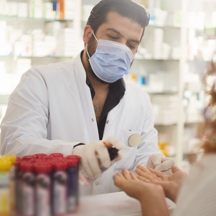 Safe practices. Our licensed pharmacists are committed to your safety. To prevent the spread of germs, they'll administer your flu shot wearing a mask, face shield, and gloves.