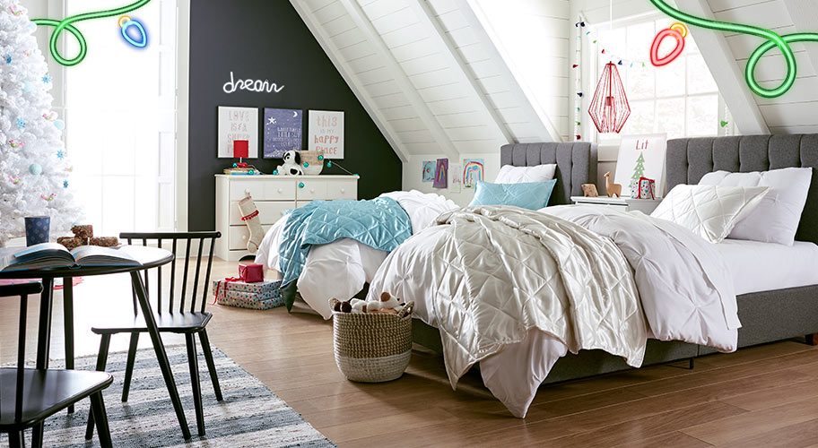 Create The Ultimate Sleepover Room. With Adorable Bedding, Furniture U0026