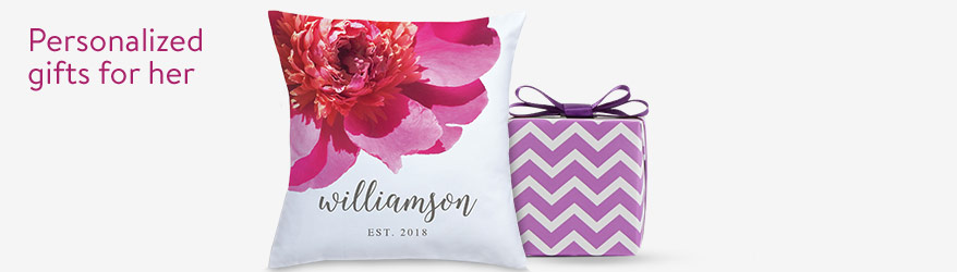 Personalized gifts for her...just in time for Mother's Day