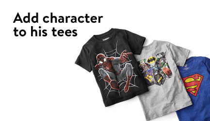 Add character to his tees