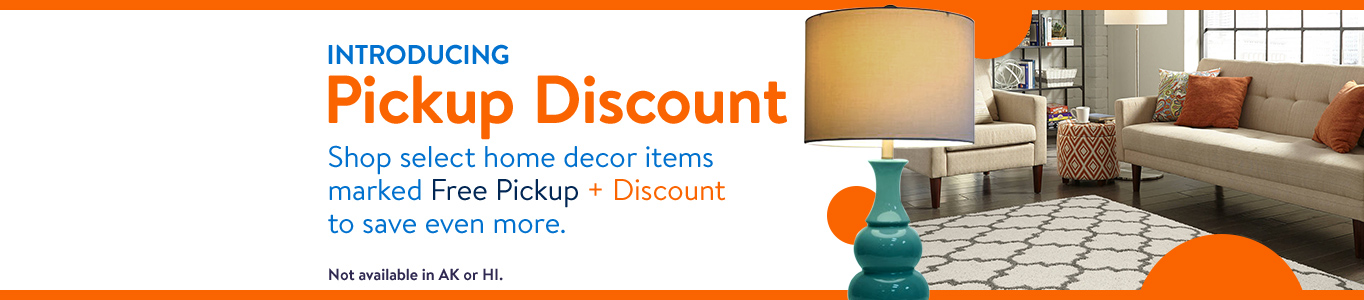 shop select home decor items marked free pickup plus discount to save - Walmart Home Decor