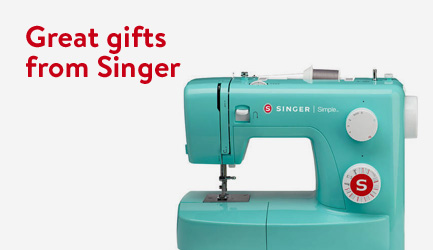 Great gifts on Singer machines.