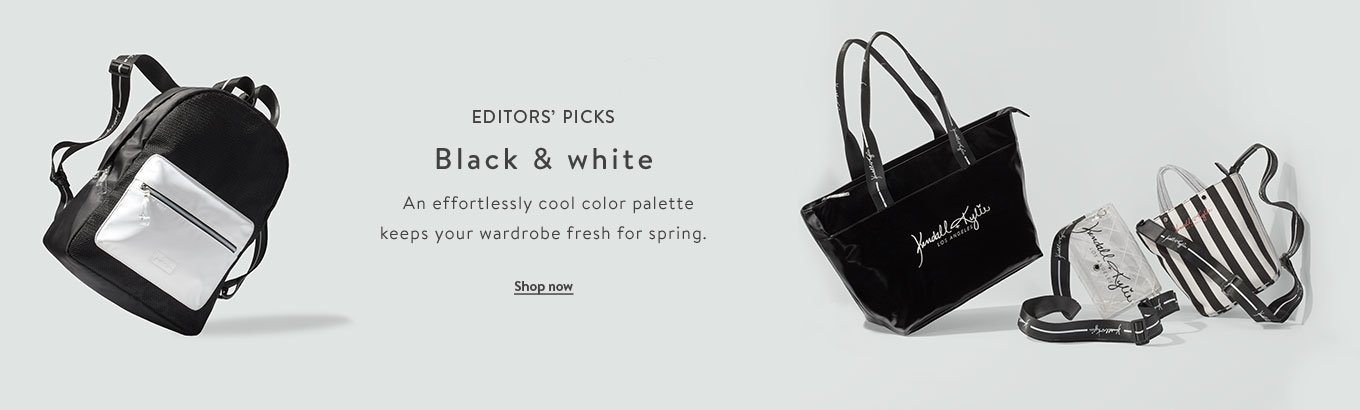 5e2877273b4 Editors  picks featuring black and white. An effortlessly cool color  palette keeps your wardrobe