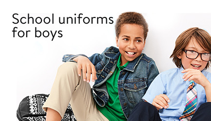 Save on school uniforms for boys.