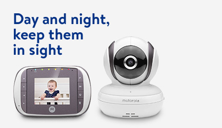 Keep them in sight with a baby monitor.