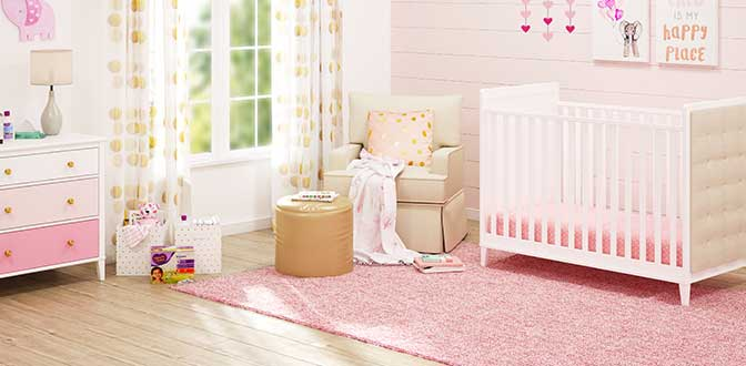 Classic Pink Nursery Collection & Baby Furniture - Walmart.com