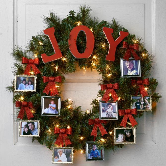Christmas door wreath: Joy