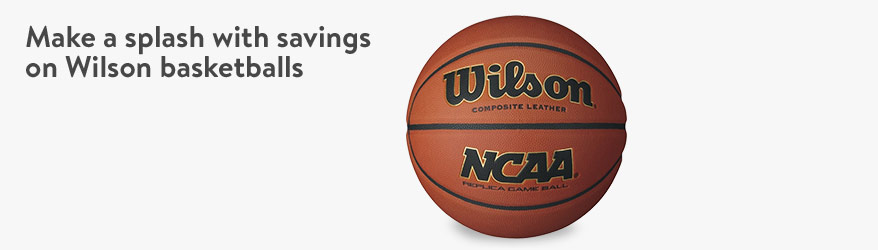 Save on Wilson basketballs!