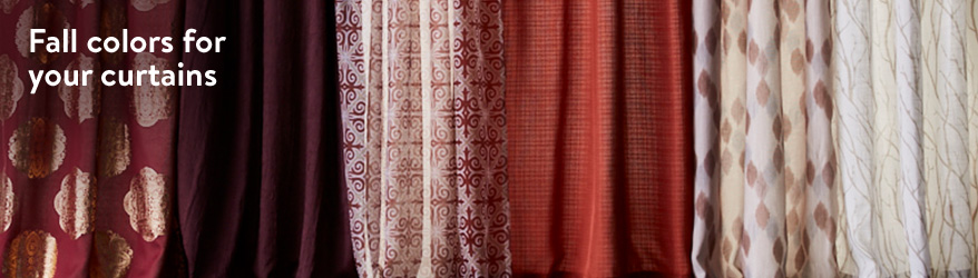 Fall colors for your curtains