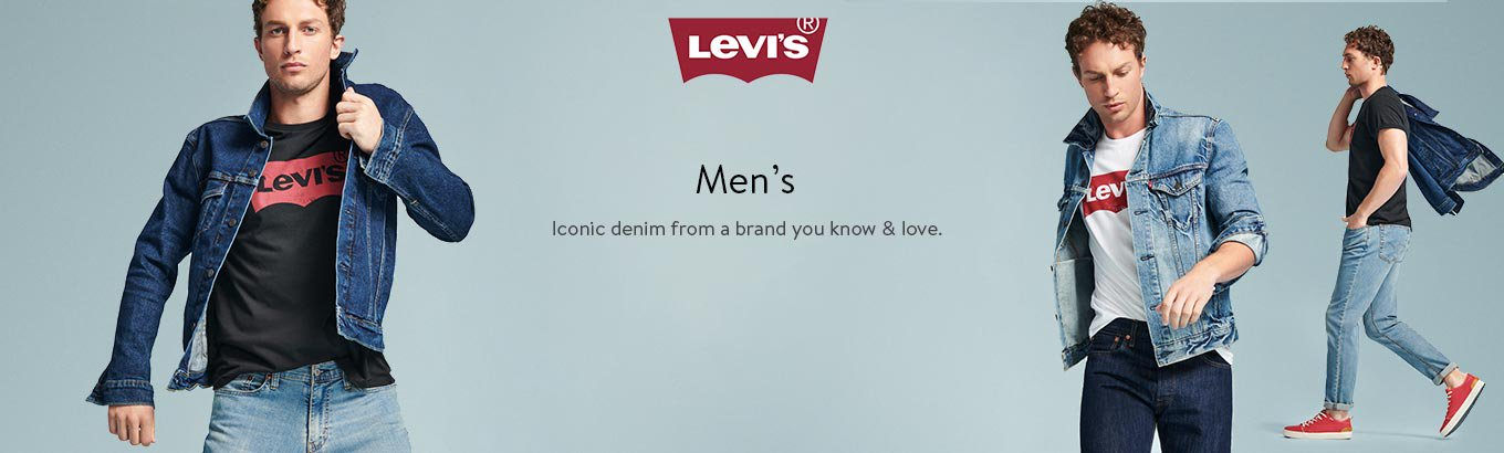Levi's. Men's. Iconic denim from a brand you know & love.