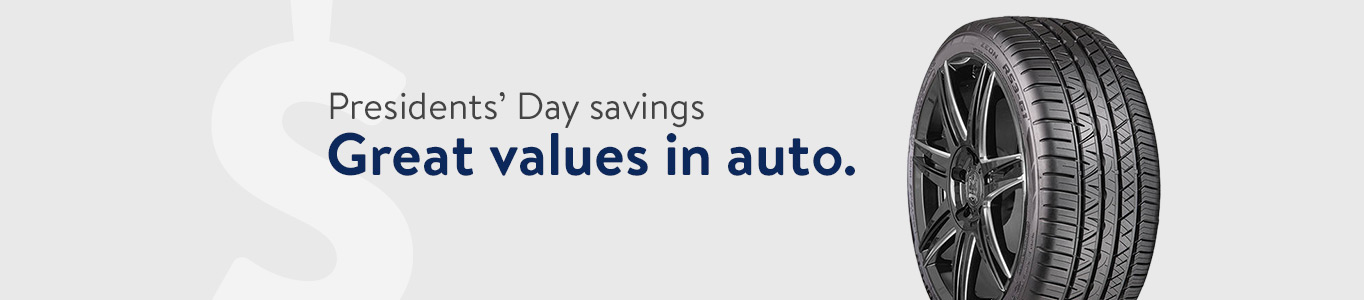 Presidents' Day savings: Great values in auto.