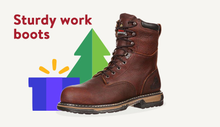 Sturdy work boots