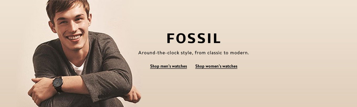 Fossil. Around-the-clock style, from classic to modern. Shop men's watches. Shop women's watches.