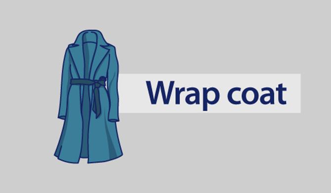 Wrap coat.