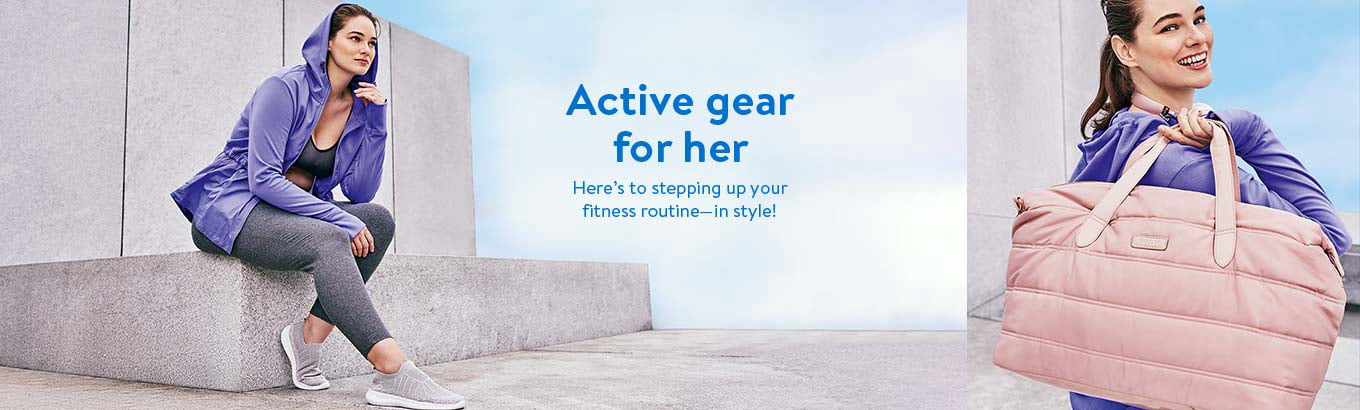 Active gear for her. Here's to stepping up your fitness routine in style!