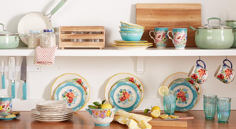 New! Kitchenware with Flair. Refresh the kitchen with The Pioneer Woman's farmhouse floral cookware & serveware.
