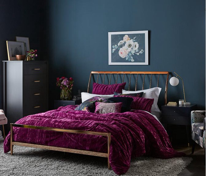 Create A Moody Glam Bedroom With Trendy Styles