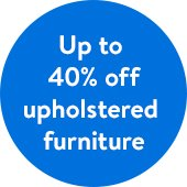 Save Up to 40% off Upholstered Furniture at Walmart
