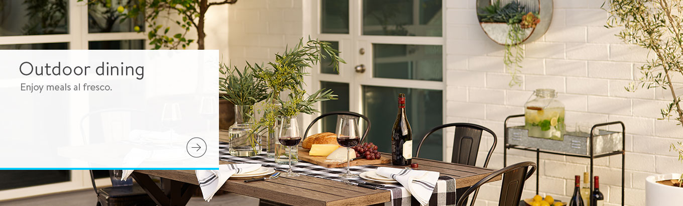SBS Farmhouse Industrial Outdoor Dining March 2019   Walmart.com