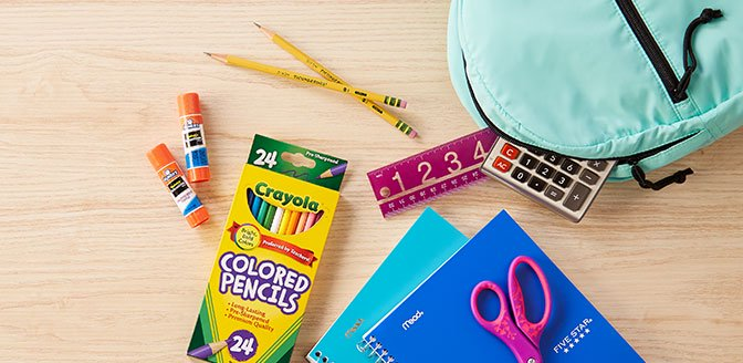 Stock up & save on school supplies.