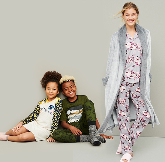 Cozy sets for the whole crew. Shop women's. Shop men's. Shop kids'. Shop baby.