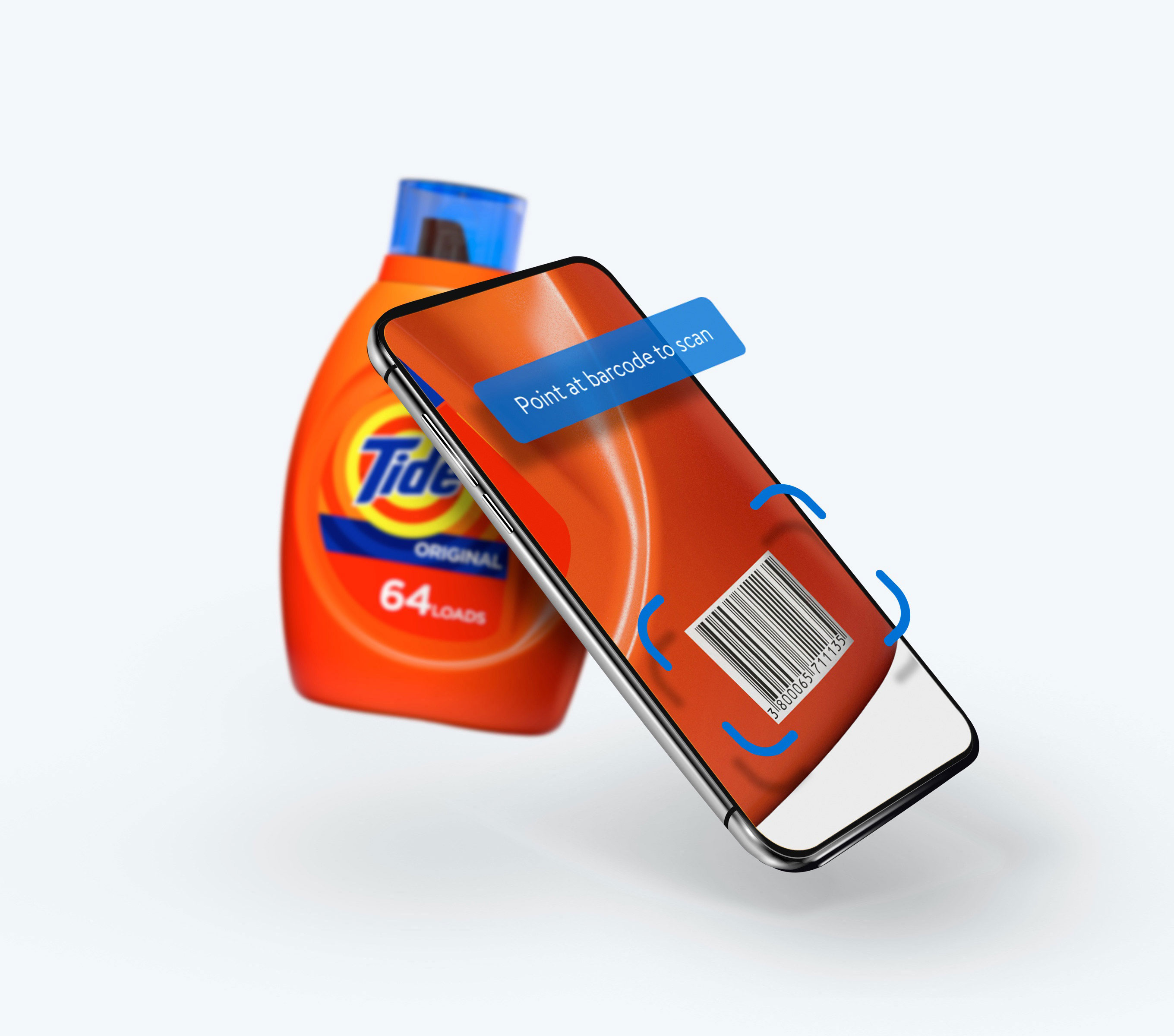 mobile scan of Tide bottle
