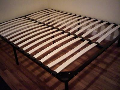 Wooden Slat Bed Frame Black