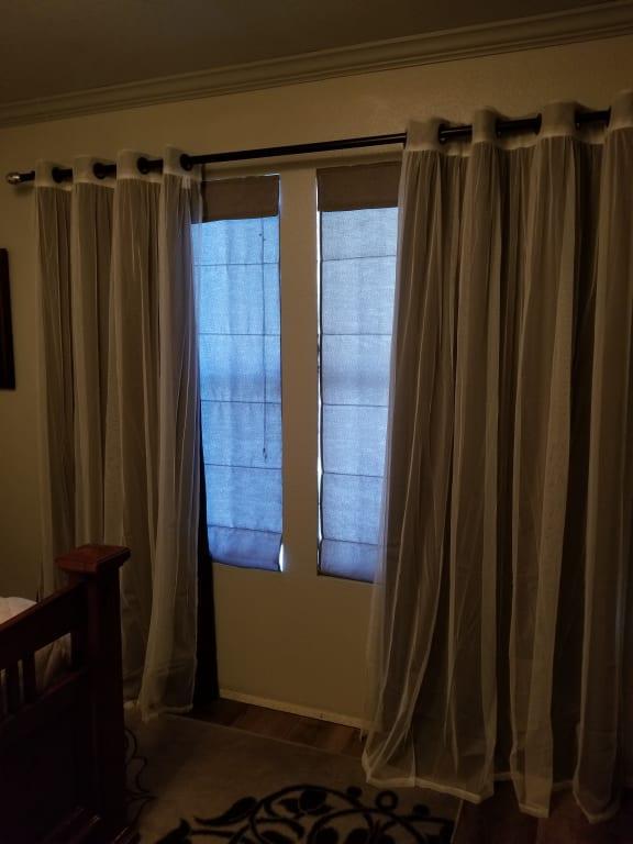 Antique Bronze Grommet Top 2 Curtains, Antique Bronze Grommet Curtains