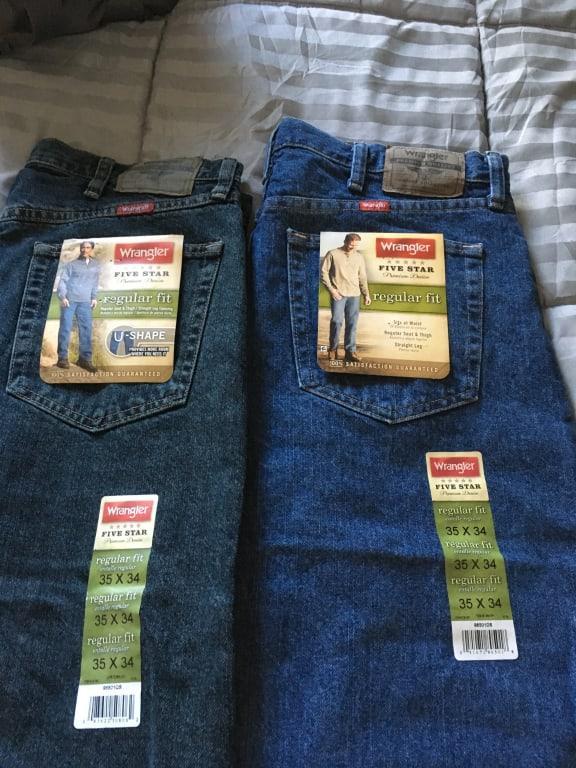 Wrangler Wrangler Men S Regular Fit Jeans Walmart Com Walmart Com
