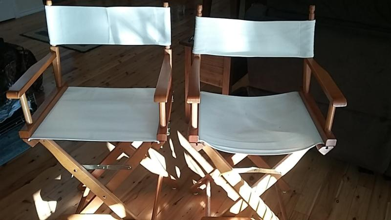 IN 3 SIZES AND 5 COLOURS 4 DIRECTORS CHAIR REPLACEMENT COVERS 4 SETS