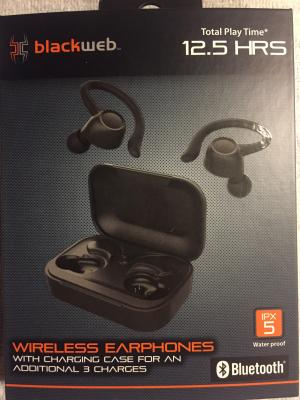 Blackweb True Wireless Bluetooth Earbuds Black Walmart Com Walmart Com