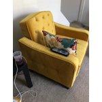 Novogratz Vintage Tufted Armchair Multiple Colors