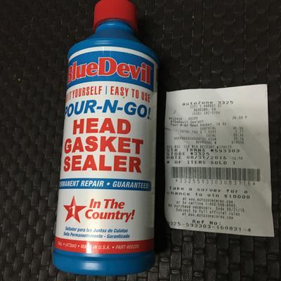 Bluedevil Head Gasket Sealer Pour N Go Walmartcom