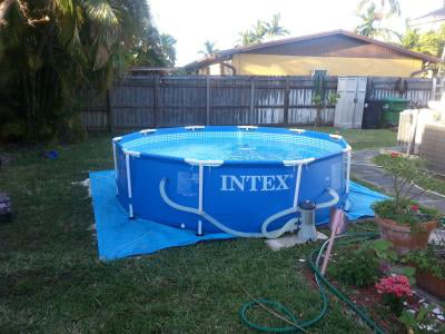 Intex 10 X 30 Metal Frame Above Ground Swimming Pool With Filter