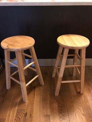 Terrific Mainstays Fully Assembled 24 Natural Wood Bar Stool Forskolin Free Trial Chair Design Images Forskolin Free Trialorg