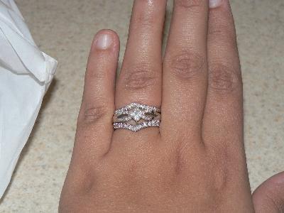 Miabella 1 6 Carat T W Diamond Chevron Ring In 10kt White Gold