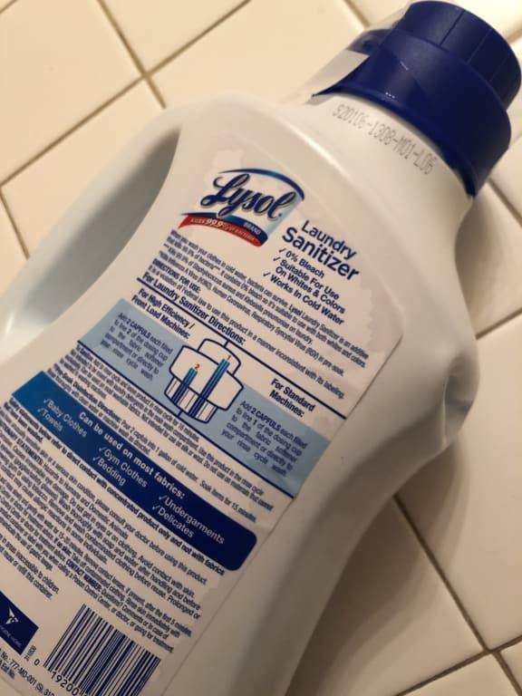 Lysol Laundry Sanitizer Crisp Linen 41 Oz Eliminates Odors And