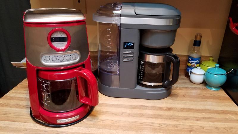 KitchenAid 12 Cup Drip Coffee Maker with Spiral Showerhead - Matte Charcoal  Grey - Walmart.com - Walmart.com