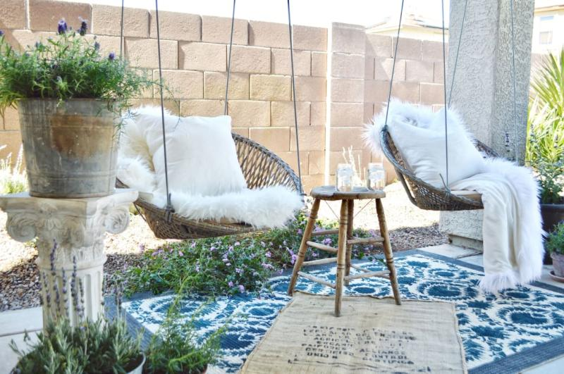 Amazing Belham Living Saria Resin Wicker Single Hanging Swing Chair Lamtechconsult Wood Chair Design Ideas Lamtechconsultcom