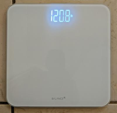 Tempered Glass 400 Pound Max GreaterGoods Digital Body Weight Bathroom Scale Clear Backlit Shine Through Display