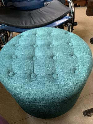 Fantastic Homepop Tufted Round Ottoman With Storage Multiple Colors Theyellowbook Wood Chair Design Ideas Theyellowbookinfo