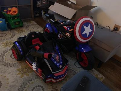 Outstanding Marvels Captain America Motorcycle With Sidecar Ride On Toy Pabps2019 Chair Design Images Pabps2019Com
