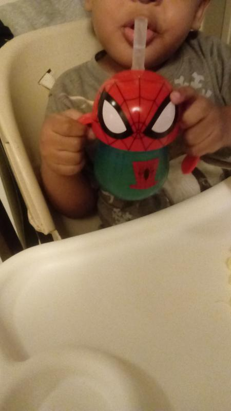 7 Ounce The First Years Marvel Spider Man Straw Cup with Handles