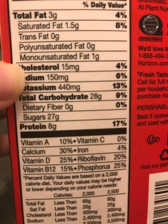 Horizon Organic DHA Omega-3 1% Low-Fat