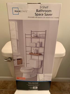 Chapter Lexington Park Over The Toilet Bathroom Storage Space Saver Satin Nickel Walmart Com Walmart Com
