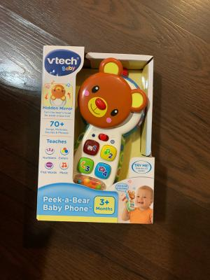 VTech Baby Peek-a-boo Mirror Play Phone 3-24 months Educational Toy Brand New