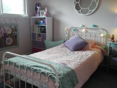 Novogratz Bright Pop Full Metal Bed Multiple Colors White
