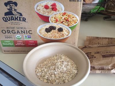 Quaker Organic Instant Oatmeal, Variety Pack, 32 Packets