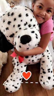 Large Dalmatian Puppy Dog Plush Toy With Red Bow 24 Walmart Com